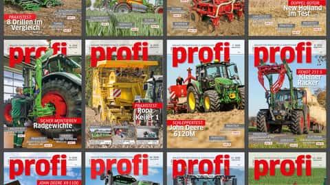 Titelbilder der Zeitschrift profi von 2020