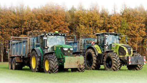 John Deere und Claas Traktor