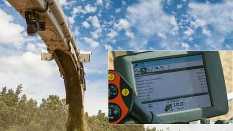Claas Jaguar mit NIR-Sensor