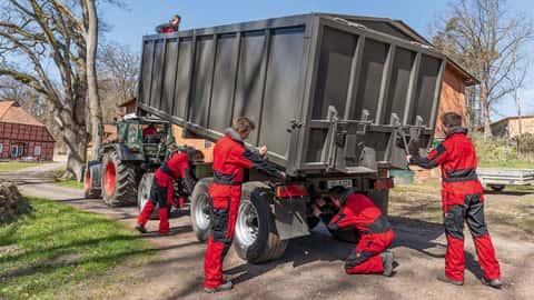 Getreideernte Transport und -lagerung