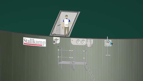 Serviceöffnung einer Biogasanlage