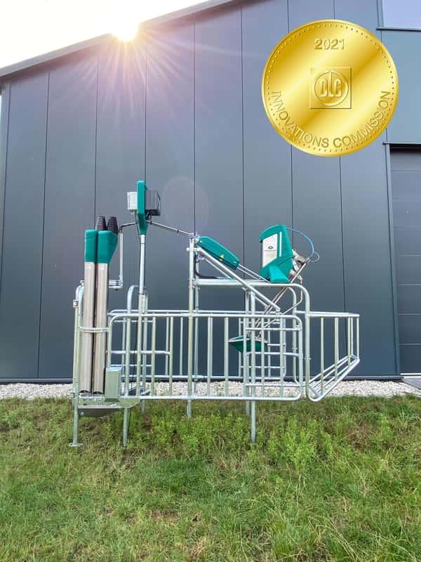 Eurotier Innovation Award Harn direkt an der Kuh auffangen